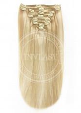 clip in vlasy svetlo zlatá blond-svetlá blond 38 cm