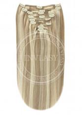 clip-in deluxe najsvetlejšia hnedá-svetlá blond 45 cm