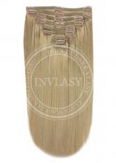 clip-in deluxe najsvetlejšia hnedá 45 cm | Invlasy.sk - clip in vlasy