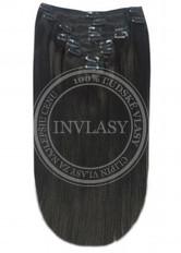 clip-in deluxe čierna prirodzená 38 cm | Invlasy.sk - clip in vlasy
