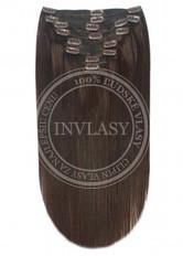 clip-in deluxe tmavo hnedá 38 cm | Invlasy.sk - clip in vlasy