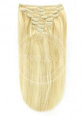 clip in vlasy stredná blond-svetlá blond 45 cm | Invlasy.sk - clip in vlasy