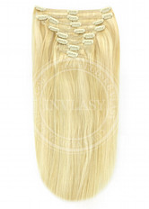 clip-in deluxe stredná blond-svetlá blond 61 cm