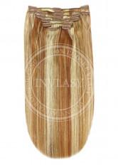 clip-in deluxe zázvorová blond-svetlo gaštanová 45 cm | Invlasy.sk - clip in vlasy