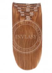 clip-in deluxe svetlo gaštanová 45 cm | Invlasy.sk - clip in vlasy