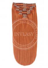 clip in vlasy zázvorová červená 61 cm | Invlasy.sk - clip in vlasy