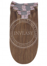 clip-in deluxe karamelová hnedá 38 cm | Invlasy.sk - clip in vlasy