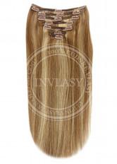 clip-in deluxe svetlo hnedá-zázvorová blond 51 cm