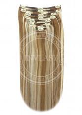 clip in vlasy svetlo hnedá-svetlá blond 51 cm