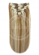 clip-in deluxe svetlo hnedá-svetlá blond 51 cm