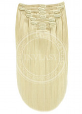 clip in vlasy najsvetlejšia blond - 10 pásov 38 cm