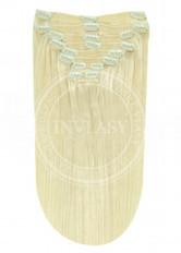 clip in vlasy platinová blond 38 cm