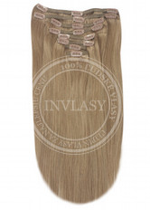 clip in vlasy popolavá hnedá 55 cm