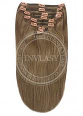 clip in vlasy svetlo popolavá hnedá 38 cm | Invlasy.sk - clip in vlasy