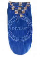 clip in vlasy modrá 61 cm