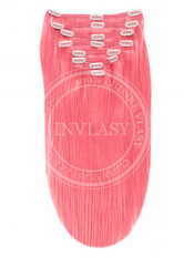 clip-in deluxe ružová 51 cm | Invlasy.sk - clip in vlasy