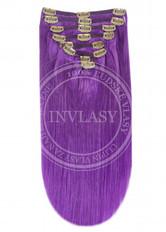 clip in vlasy fialová 45 cm | Invlasy.sk - clip in vlasy
