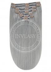 clip in vlasy strieborno šedá 51 cm | Invlasy.sk - clip in vlasy