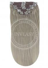 clip in vlasy strieborno piesková 38 cm