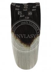 clip in vlasy ombré T1B/SG 45 cm | Invlasy.sk - clip in vlasy