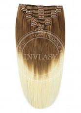 clip in vlasy ombré T6/613 45 cm