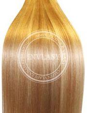 clip in vlasy tmavá blond-stredná blond 38 cm | Invlasy.sk - clip in vlasy