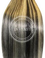 clip-in deluxe čierna prirodzená-svetlá blond 51 cm