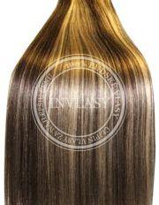 clip in vlasy stredne hnedá-stredná blond 38 cm
