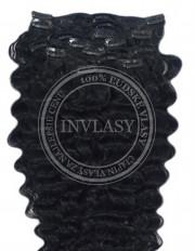 clipin vlasy vlnité čierna 35 cm