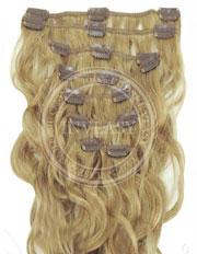 clipin vlasy vlnité najsvetlejšia hnedá 55 cm