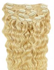 clipin vlasy vlnité stredná blond 45 cm | Invlasy.sk - clip in vlasy