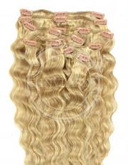 clipin vlasy vlnité zázvorová blond-svetlá blond 45 cm | Invlasy.sk - clip in vlasy