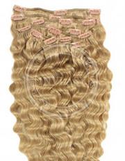 clipin vlasy vlnité zázvorová blond 45 cm