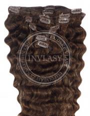 clipin vlasy vlnité stredne hnedá 35 cm | Invlasy.sk - clip in vlasy