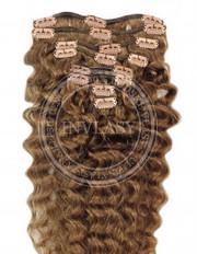 clipin vlasy vlnité svetlo hnedá 66 cm