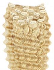 clipin vlasy vlnité svetlá blond 55 cm