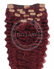 clipin vlasy vlnité višňová 55 cm