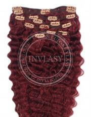 clipin vlasy vlnité višňová 66 cm | Invlasy.sk - clip in vlasy