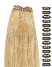 DIY stredne zlatá hnedá-svetlo zlatá blond 38 cm