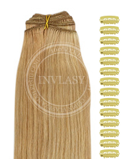 DIY svetlo hnedá popolavá-zlatá blond - svetlá blond 38 cm | Invlasy.sk - clip in vlasy