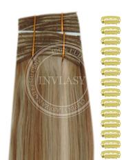 DIY tmavá blond-stredná blond 51 cm