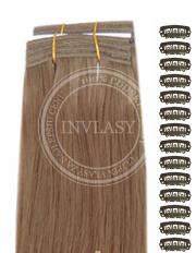DIY tmavá blond 38 cm | Invlasy.sk - clip in vlasy