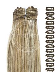 DIY najsvetlejšia hnedá-svetlá blond 51 cm | Invlasy.sk - clip in vlasy