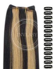 DIY čierna prirodzená-zázvorová blond 38 cm | Invlasy.sk - clip in vlasy