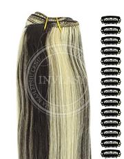 DIY čierna prirodzená-svetlá blond 38 cm | Invlasy.sk - clip in vlasy