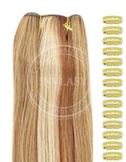 DIY zázvorová blond-svetlo gaštanová-svetlá blond 61 cm