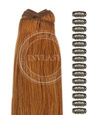 DIY svetlo gaštanová 61 cm | Invlasy.sk - clip in vlasy