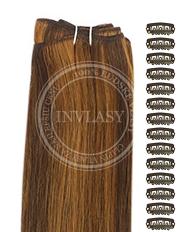 DIY stredne hnedá-svetlo gaštanová 38 cm | Invlasy.sk - clip in vlasy