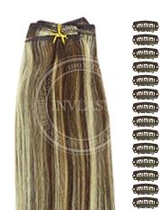 DIY stredne hnedá-svetlá blond 38 cm | Invlasy.sk - clip in vlasy