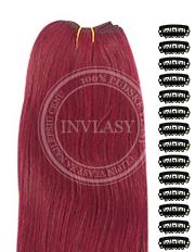 DIY slivkovo červená 38 cm | Invlasy.sk - clip in vlasy